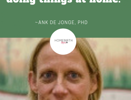 ank de jonge, homebirth midwife and researcher